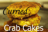 Curried Crab Cakes with Garlic Aioli
