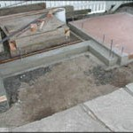 Foundation and oven floor complete