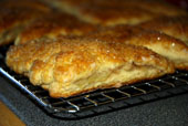 Pear-filled Scones