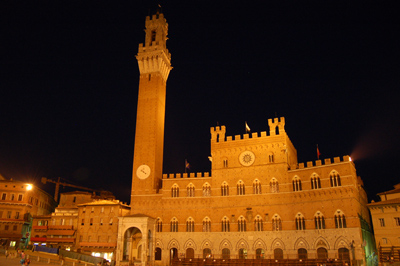 Siena Camponile at night
