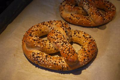 Baked pretzels 400W