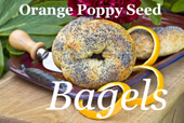 Orange Poppy Seed Bagels