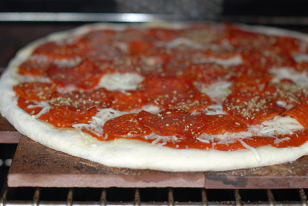 Pizza with quick-rise dough