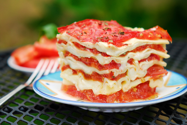 No-Bake Lasagna With Ricotta And Tomatoes Recipe — Dishmaps