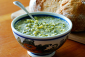 Mountain Man Bread with Broccoli Soup