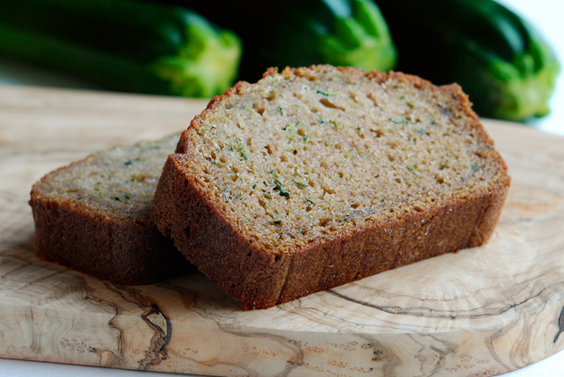Doris Light Zucchini Bread slices