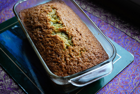 Doris Light Zucchini Bread in the pan