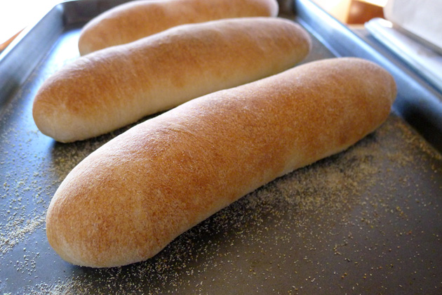 Homemade Hoagie Rolls fresh from the Oven