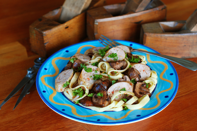 Tagliolette with Woodfired Sausage and Mushrooms | Sortachef