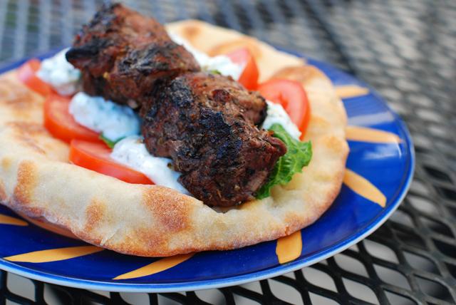 Greek Pita Wrap With Homemade Greek Pitas
